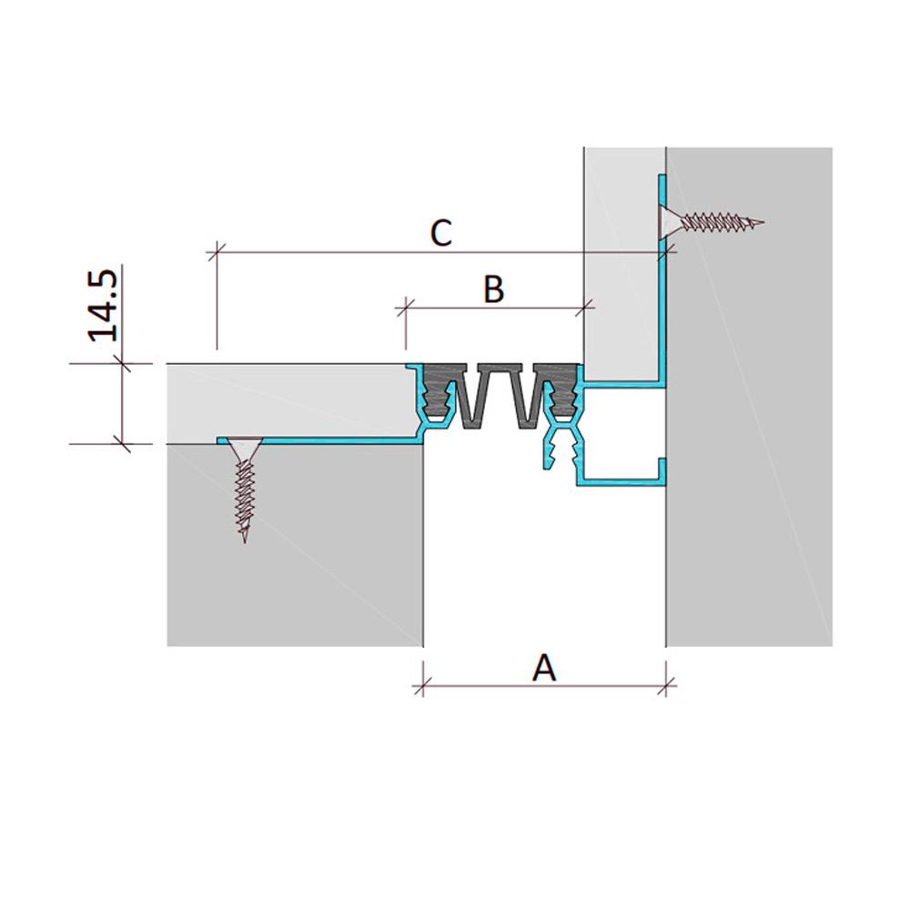 Дилатационное устройство Аквастоп ДГК-15-УГЛ.Ш/035