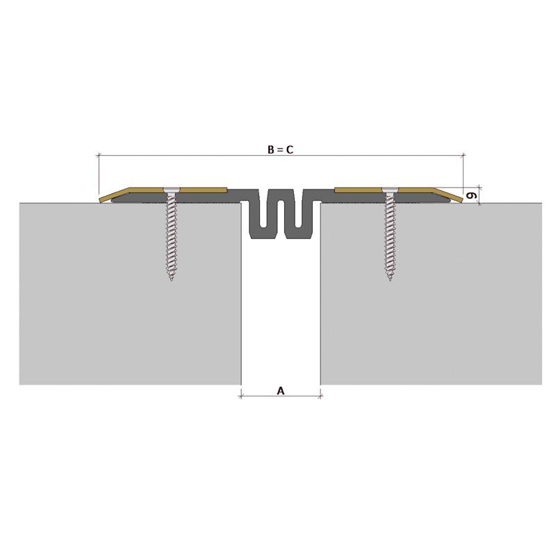 Дилатационное устройство Аквастоп ДПС-0/050 ПС1-215/050 ПН-81-СН