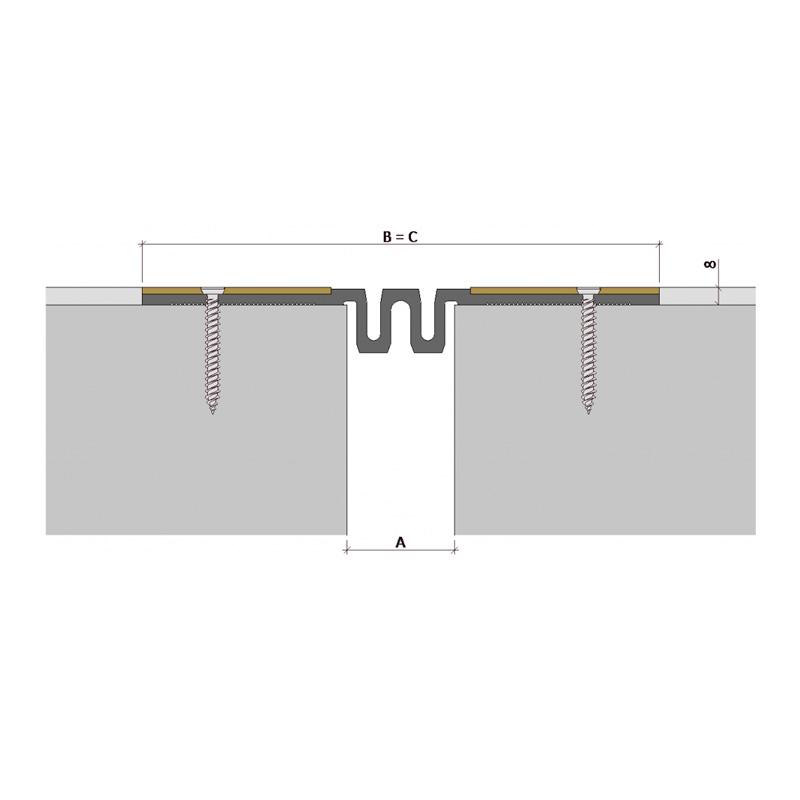 Дилатационное устройство Аквастоп ДПВ-8/050 ПП-88-СН