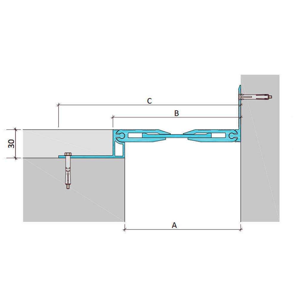 Дилатационное устройство Аквастоп ДША-30-УГЛ/195