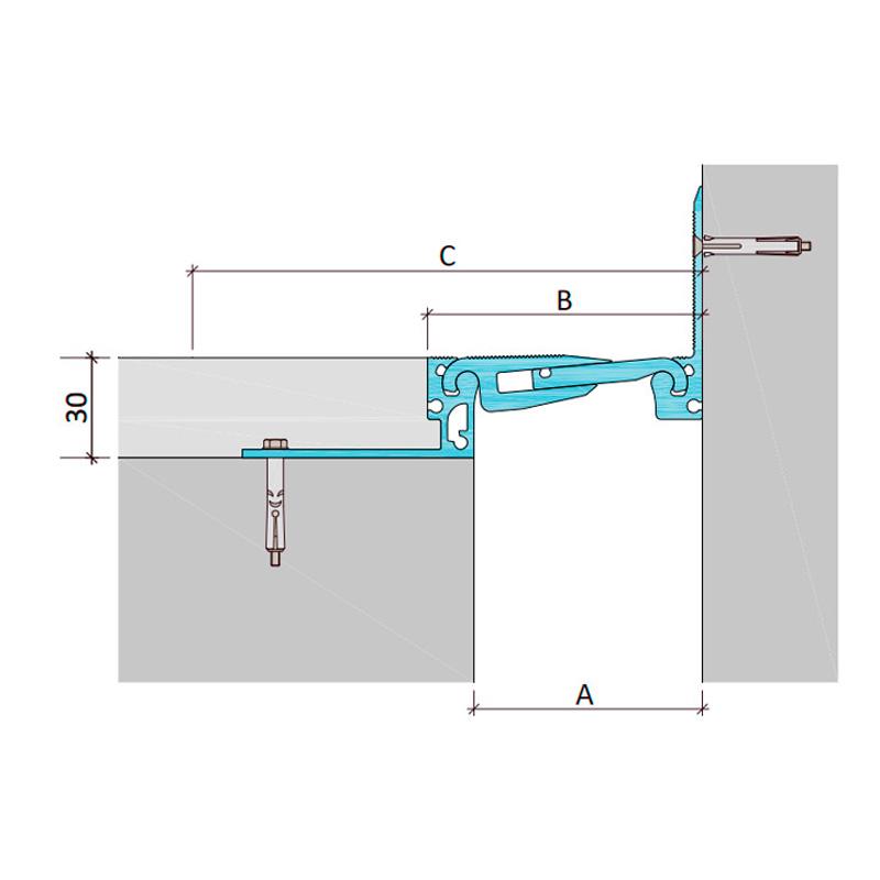 Дилатационное устройство Аквастоп ДША.Т-30-УГЛ.2/070