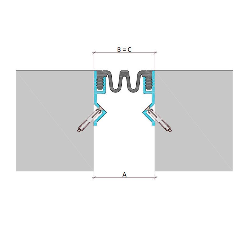 профиль для фасадного деформационного шва ДШКА-ФАС/210