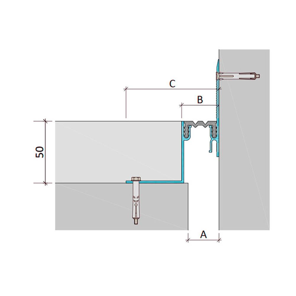 Дилатационное устройство Аквастоп ДШЛ-50-УГЛ/015