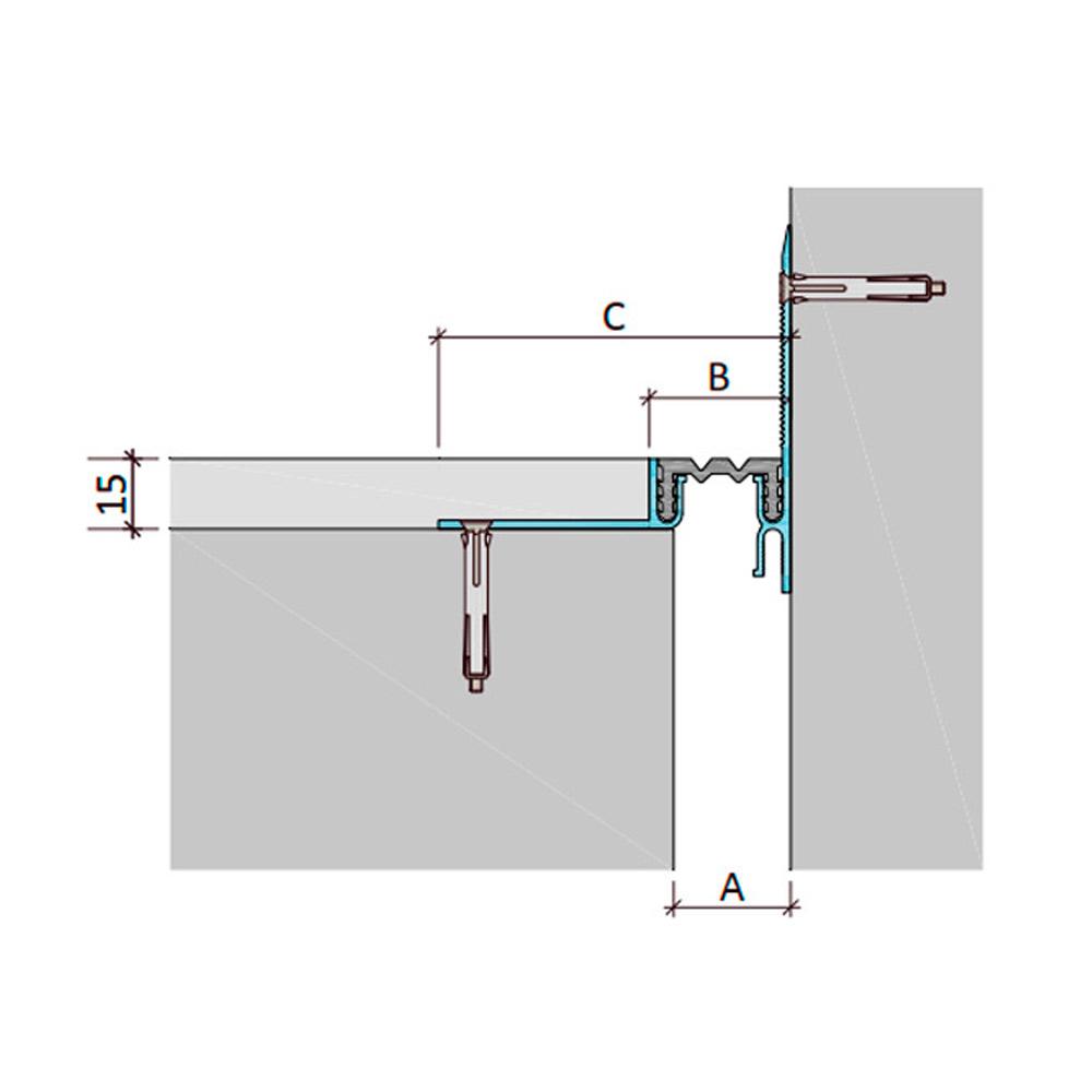 Дилатационное устройство Аквастоп ДШЛ-15-УГЛ/015