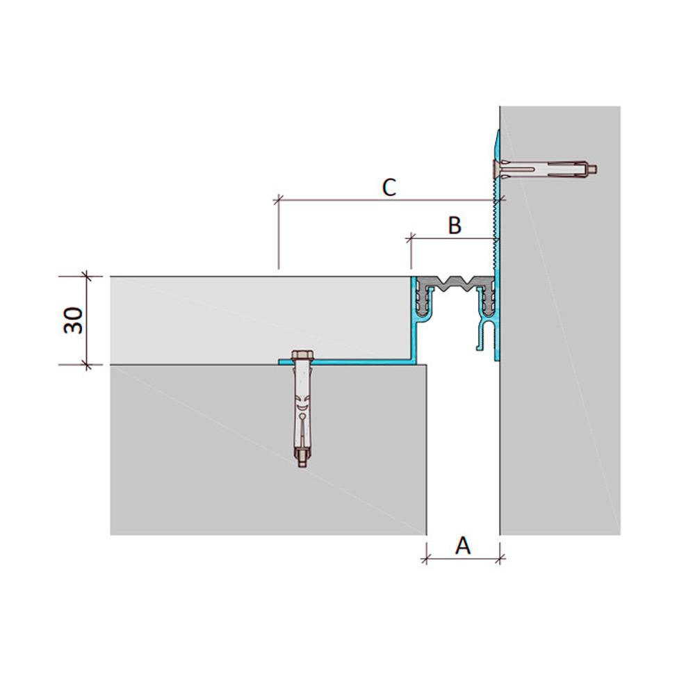 Дилатационное устройство Аквастоп ДШЛ-30-УГЛ/015