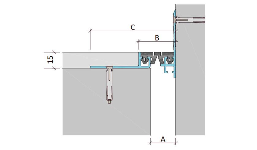 Дилатационное устройство Аквастоп ДШМ-15-УГЛ/025 В1-032