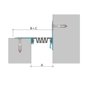 Дилатационное устройство Аквастоп ДШС-0-УГЛ/030