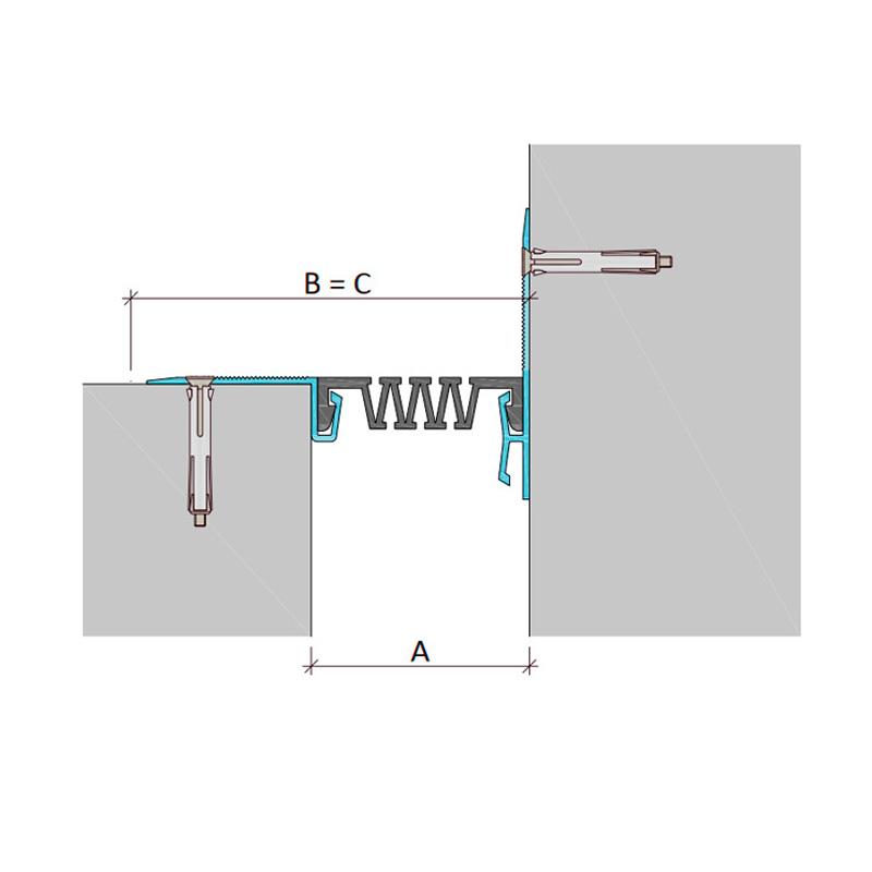 Дилатационное устройство Аквастоп ДШС-0-УГЛ/100 C2-100
