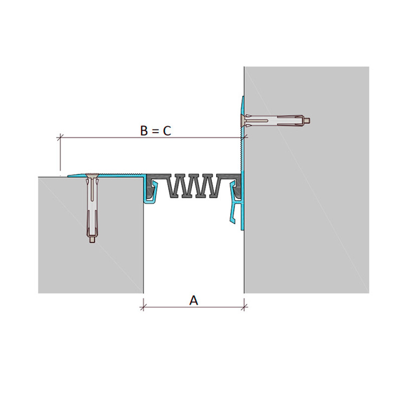 Дилатационное устройство Аквастоп ДШС-0-УГЛ/200