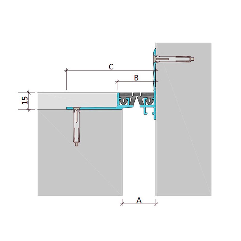 Дилатационное устройство Аквастоп ДШВ-15-УГЛ/055 В2-060