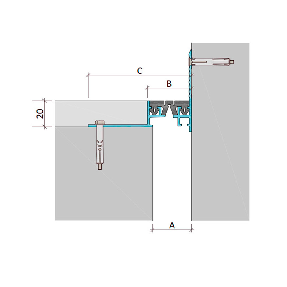Дилатационное устройство Аквастоп ДШВ-20-УГЛ/030 В0-032